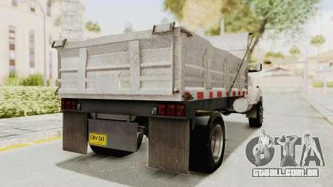 Chevrolet Kodiak Dumper Truck para GTA San Andreas traseira esquerda vista