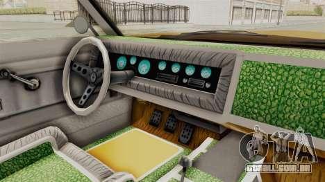 GTA 5 Declasse Sabre GT2 A IVF para GTA San Andreas vista interior