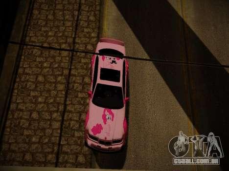 BMW M3 E36 Pinkie Pie para GTA San Andreas interior