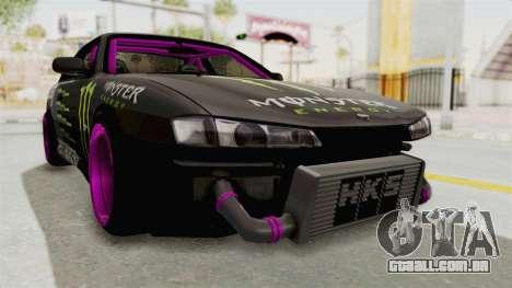 Nissan Silvia S14 Drift Monster Energy Falken para GTA San Andreas vista direita