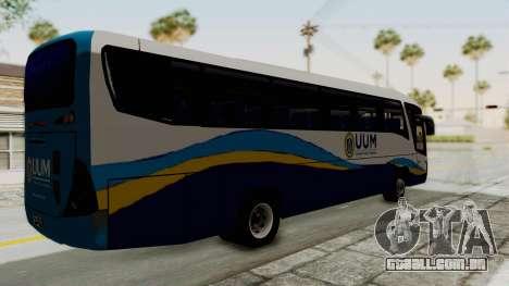 Marcopolo UUM Bus para GTA San Andreas traseira esquerda vista