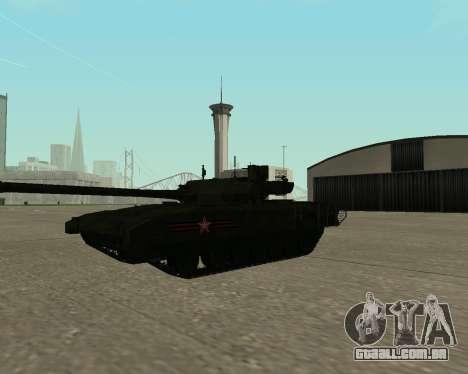 T-14 Armata para GTA San Andreas interior