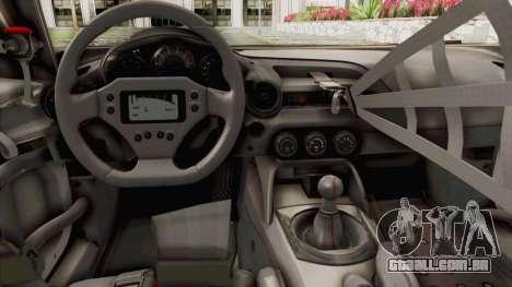 Mazda MX-5 Cup 2015 v2.0 para GTA San Andreas vista interior