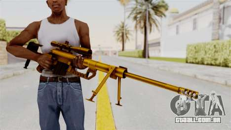 Cheytac M200 Intervention Gold para GTA San Andreas terceira tela