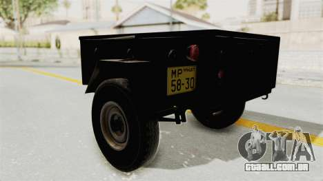 GAZ-704 Trailer para GTA San Andreas vista direita