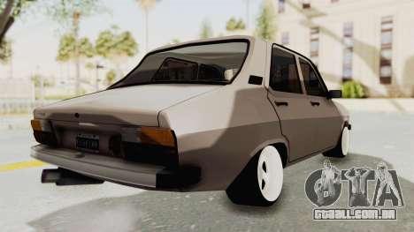 Renault 12 para GTA San Andreas traseira esquerda vista