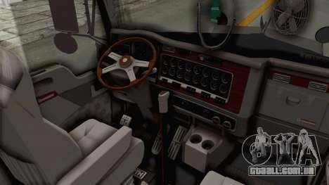 Kenworth T800 Centenario para GTA San Andreas vista interior