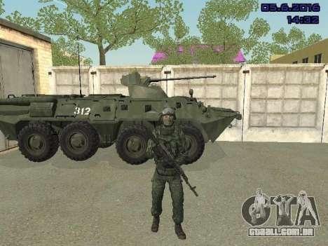 Modern Russian Soldiers pack para GTA San Andreas terceira tela