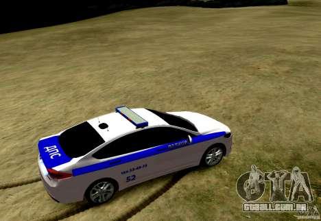 Ford Mondeo Russian Police para GTA 4 traseira esquerda vista