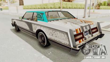 GTA 5 Dundreary Virgo Classic Custom v1 para vista lateral GTA San Andreas