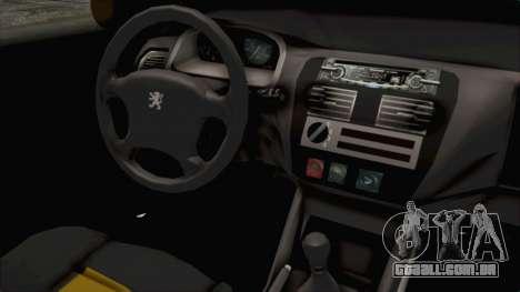 Peugeot 106 para GTA San Andreas vista interior