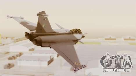 Dassault Rafale Indian Air Force para GTA San Andreas vista direita
