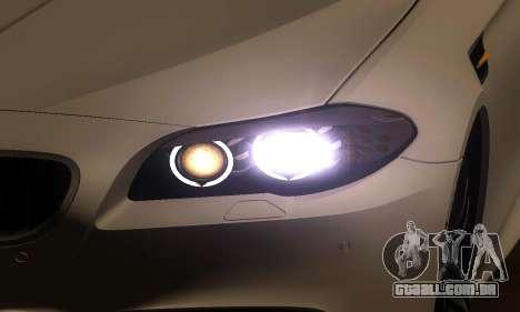 BMW M5 F10 2012 para vista lateral GTA San Andreas