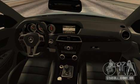 Mercedes-Benz C63 AMG Black-series para GTA San Andreas vista traseira