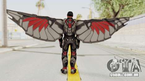 Captain America Civil War - Falcon para GTA San Andreas terceira tela