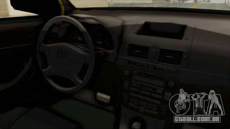 Toyota Hilux Expressway Patrol para GTA San Andreas vista interior
