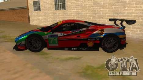 2016 Ferrari 488 GTE para GTA San Andreas esquerda vista