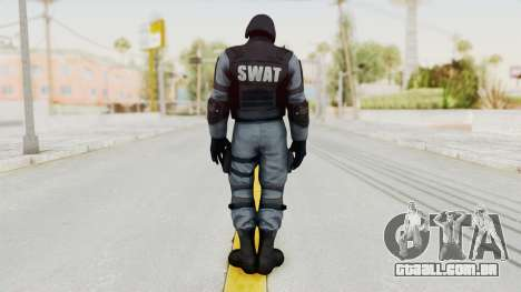 Batman Arkham Origins Swat para GTA San Andreas terceira tela