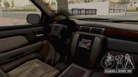 GMC Sierra 2010 para GTA San Andreas vista interior
