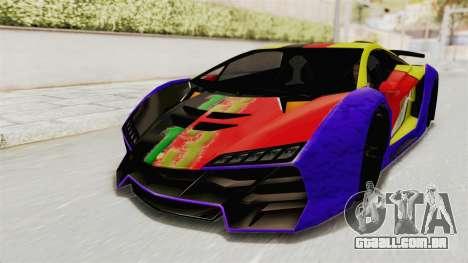GTA 5 Pegassi Zentorno PJ para vista lateral GTA San Andreas
