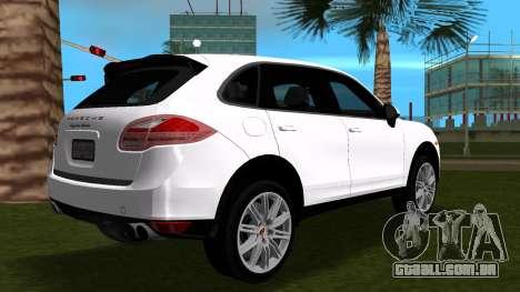 Porsche Cayenne 2012 para GTA Vice City vista traseira esquerda