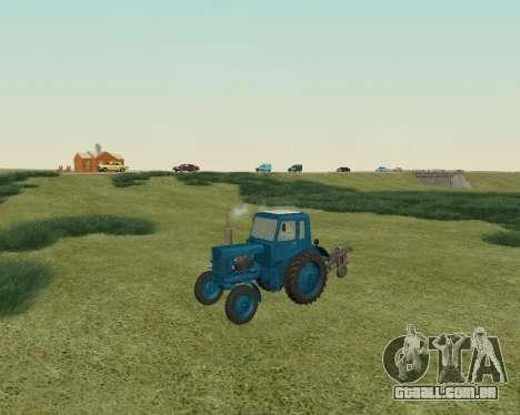 MTZ 80 Bielorrússia para GTA San Andreas esquerda vista