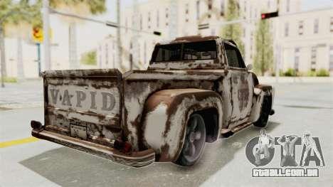 GTA 5 Slamvan Lowrider PJ2 para GTA San Andreas vista superior