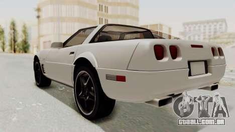 Chevrolet Corvette C4 1996 para GTA San Andreas traseira esquerda vista