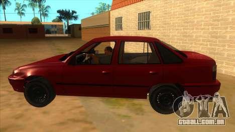 Daewoo Racer GTI para GTA San Andreas esquerda vista