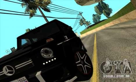 Mercedes G63 Biturbo para GTA San Andreas vista traseira
