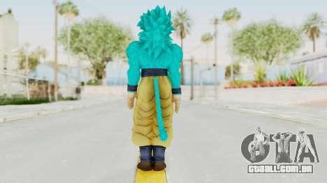 Dragon Ball Xenoverse Goku SSJ4 SSGSS para GTA San Andreas terceira tela