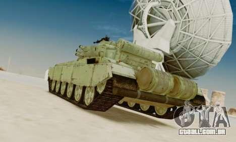 O T-72A para GTA San Andreas traseira esquerda vista