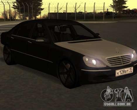 Mercedes S600 W220 JoRick Revazov para GTA San Andreas traseira esquerda vista