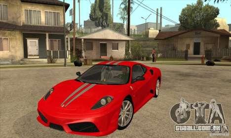 Ferrari F430 Scuderia BULKIN EDITION para GTA San Andreas traseira esquerda vista