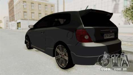 Honda Civic Type R EP3 para GTA San Andreas esquerda vista