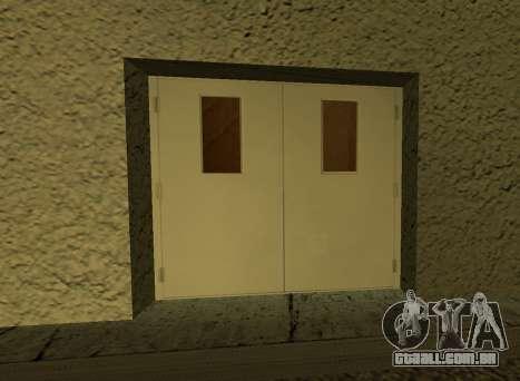 LSPD New Garage para GTA San Andreas por diante tela