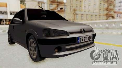 Peugeot 106 GTI Stock para GTA San Andreas
