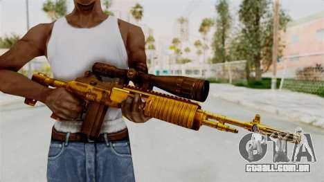 M14EBR Gold para GTA San Andreas terceira tela