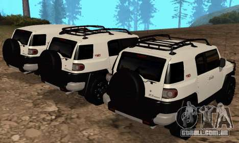 Toyota FJ Cruiser para GTA San Andreas vista inferior