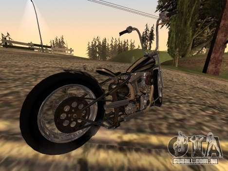 Chopper Old School para GTA San Andreas esquerda vista