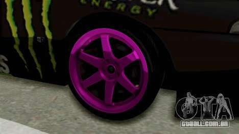 Nissan Skyline R32 Drift Monster Energy Falken para GTA San Andreas vista traseira