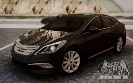 Hyundai Grandeur 2015 STOCK para GTA San Andreas