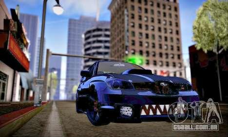 Subaru Impreza WRX STI Dark Knight para GTA San Andreas vista interior