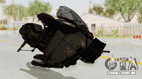 CoD Advanced Warfare - Hover Bike para GTA San Andreas vista direita