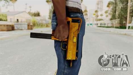 MAC-10 Gold para GTA San Andreas terceira tela