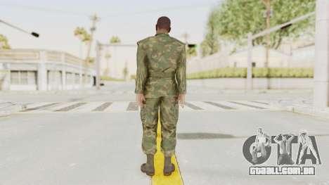 MGSV Ground Zeroes US Soldier No Gear v1 para GTA San Andreas terceira tela