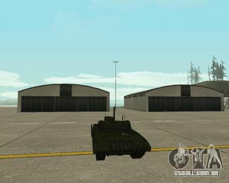 T-14 Armata para GTA San Andreas vista interior