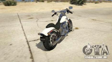 GTA 5 Harley-Davidson FXSTS Springer Softail traseira vista lateral esquerda