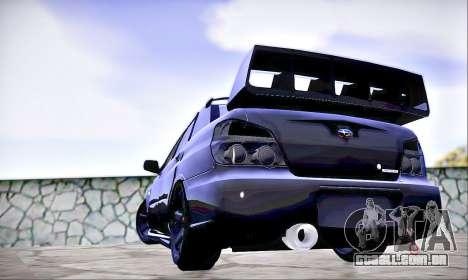 Subaru Impreza WRX STI Dark Knight para GTA San Andreas esquerda vista