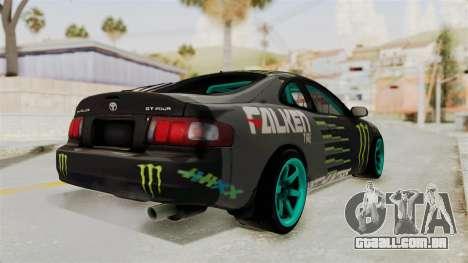 Toyota Celica GT Drift Monster Energy Falken para GTA San Andreas esquerda vista